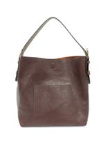 Classic Hobo Brown Handle Handbag : Wine
