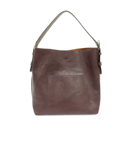 Classic Hobo Brown Handle Handbag : Wine