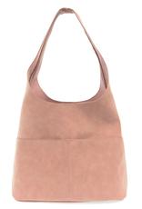 Jenny Suede Hobo Handbag : Dusty Rose