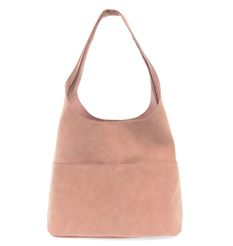 Jenny Suede Hobo Handbag : Dusty Rose