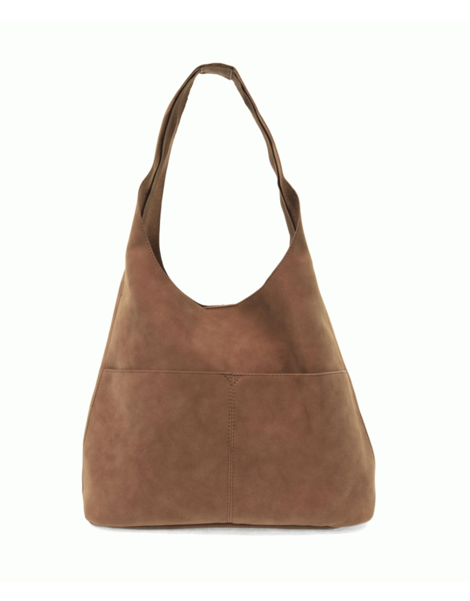 Jenny Suede Hobo Handbag : Latte