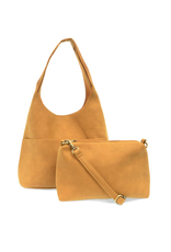 Jenny Suede Hobo Handbag : Butterscotch