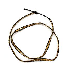 Black & Brown Wrap Bracelet