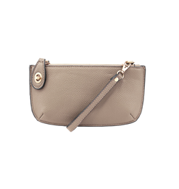 Mini Crossbody Wristlet Clutch :  Heathered Grey