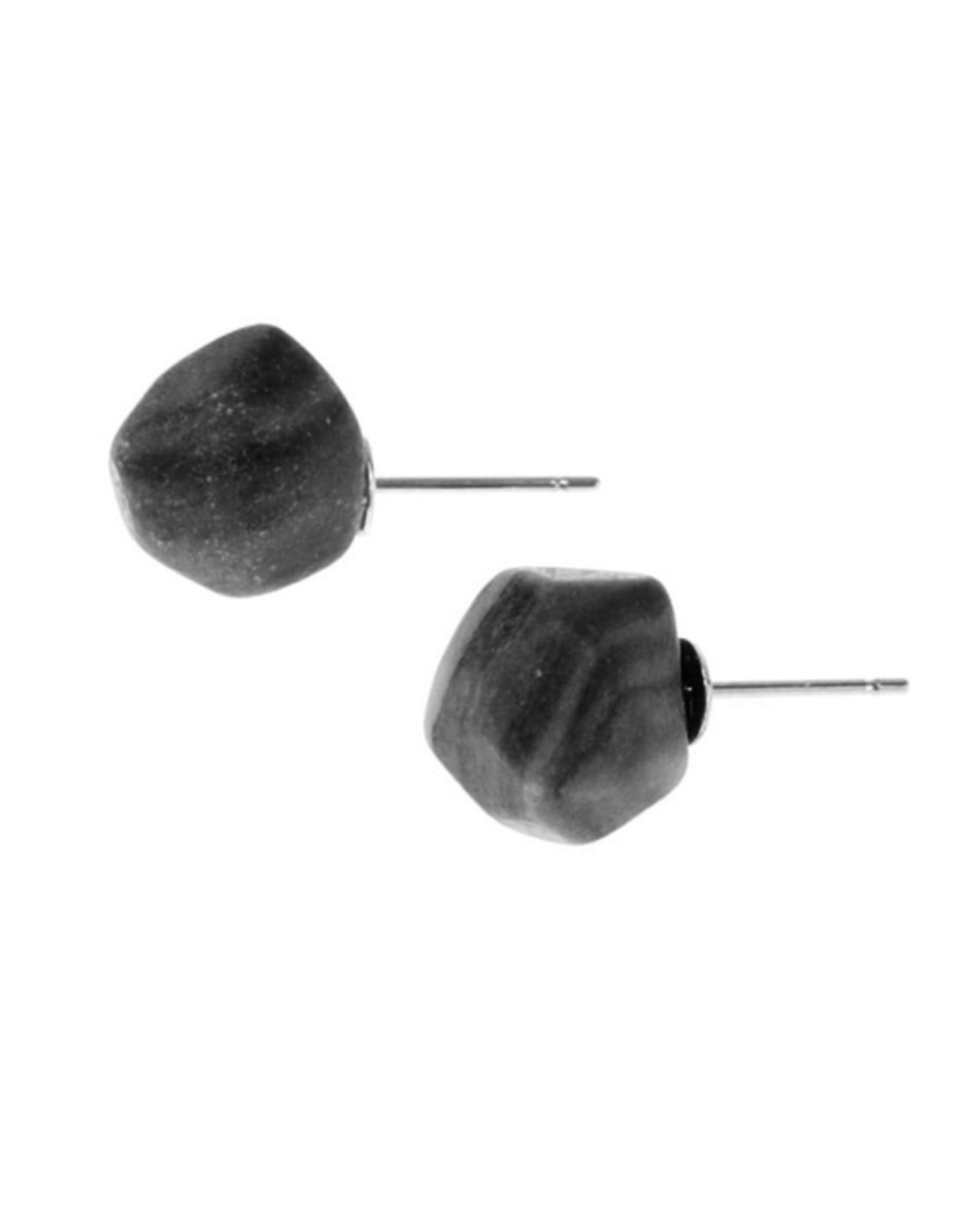 Black Jasper Nugget Earrings