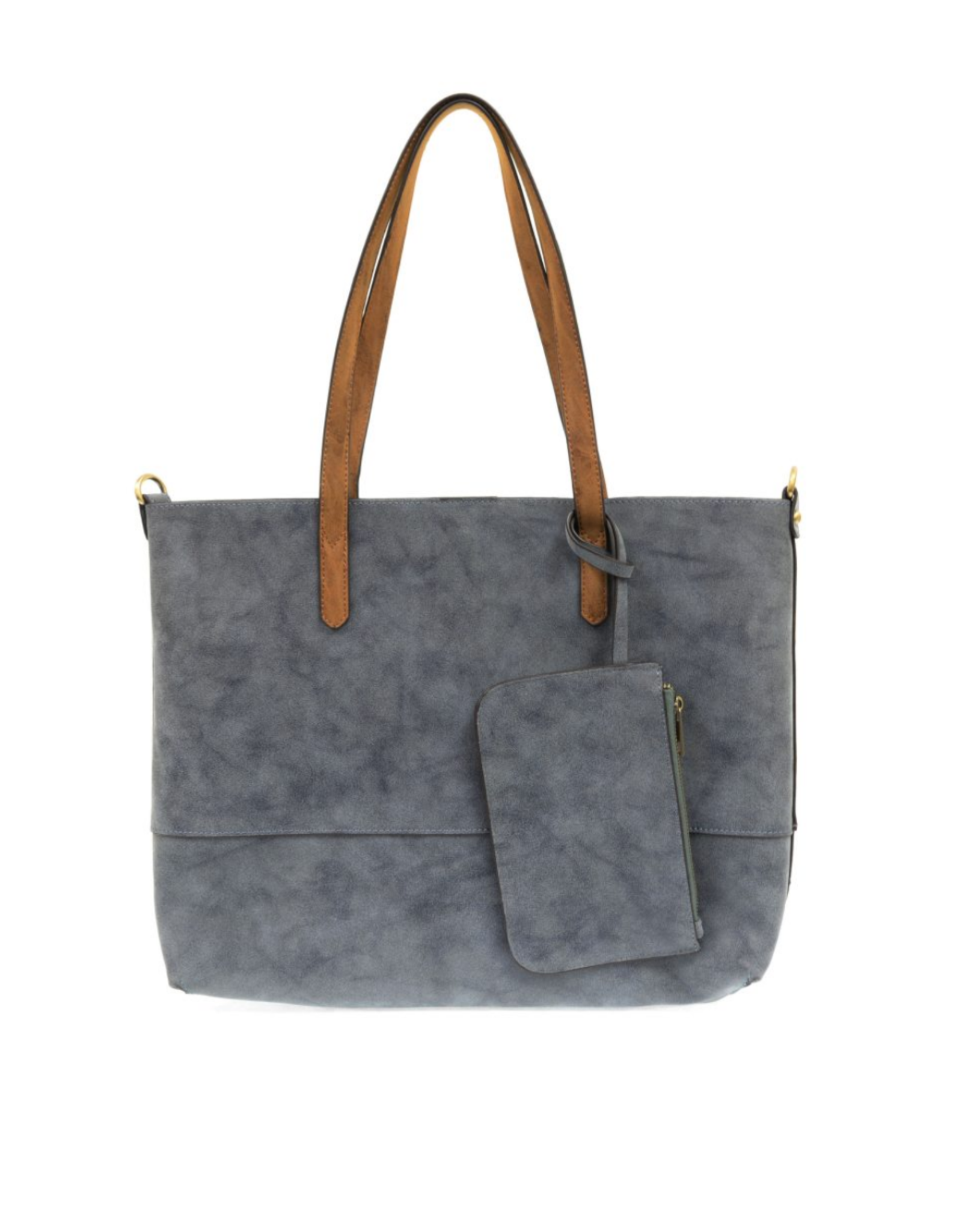Brushed 2 in 1 Tote :  Dark Chambray