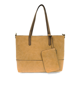 Brushed 2 in 1 Tote :  Dijon