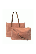 Brushed 2 in 1 Tote :  Dusty Mauve