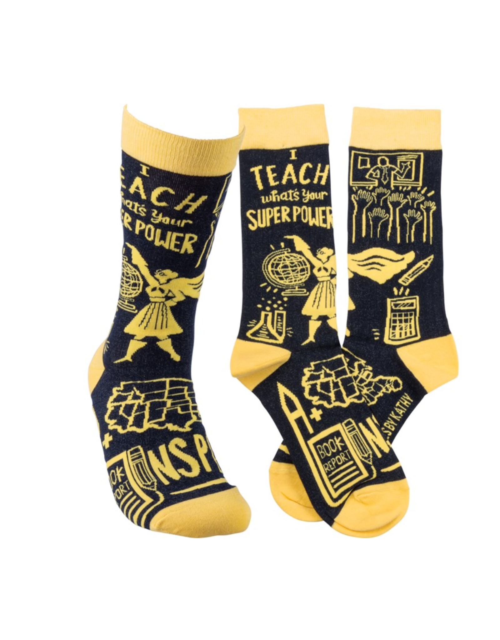 I Teach, What's Your Superpower? Socks