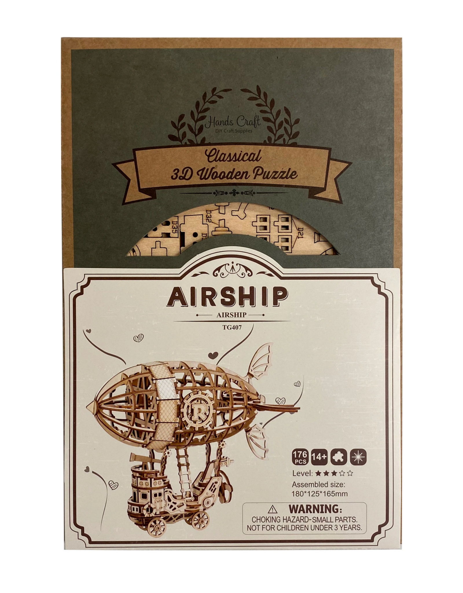 Hands Craft Modern Wooden Puzzle : Airship