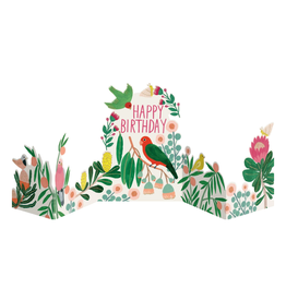 Roger La Borde Happy Birthday Parrot Pop Up Greeting Card