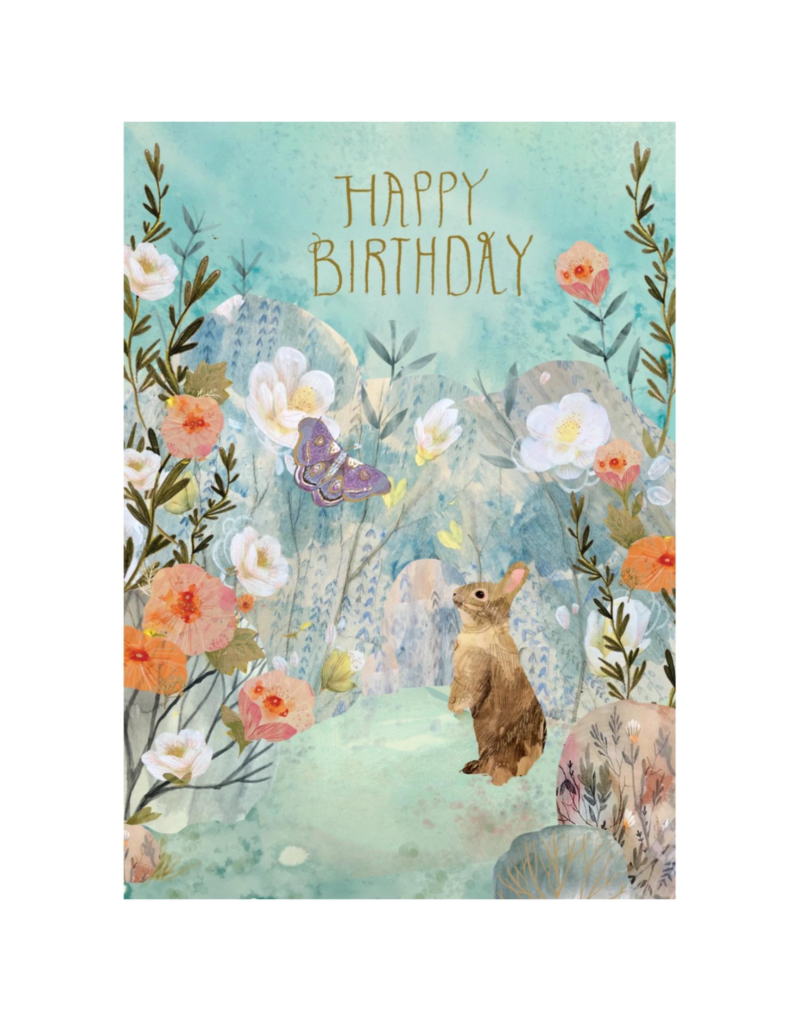 Roger La Borde Happy Birthday Bunny Dreamland Greeting Card