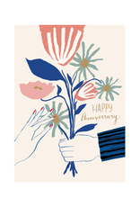 Roger La Borde Happy Anniversary Bouquet Greeting Card
