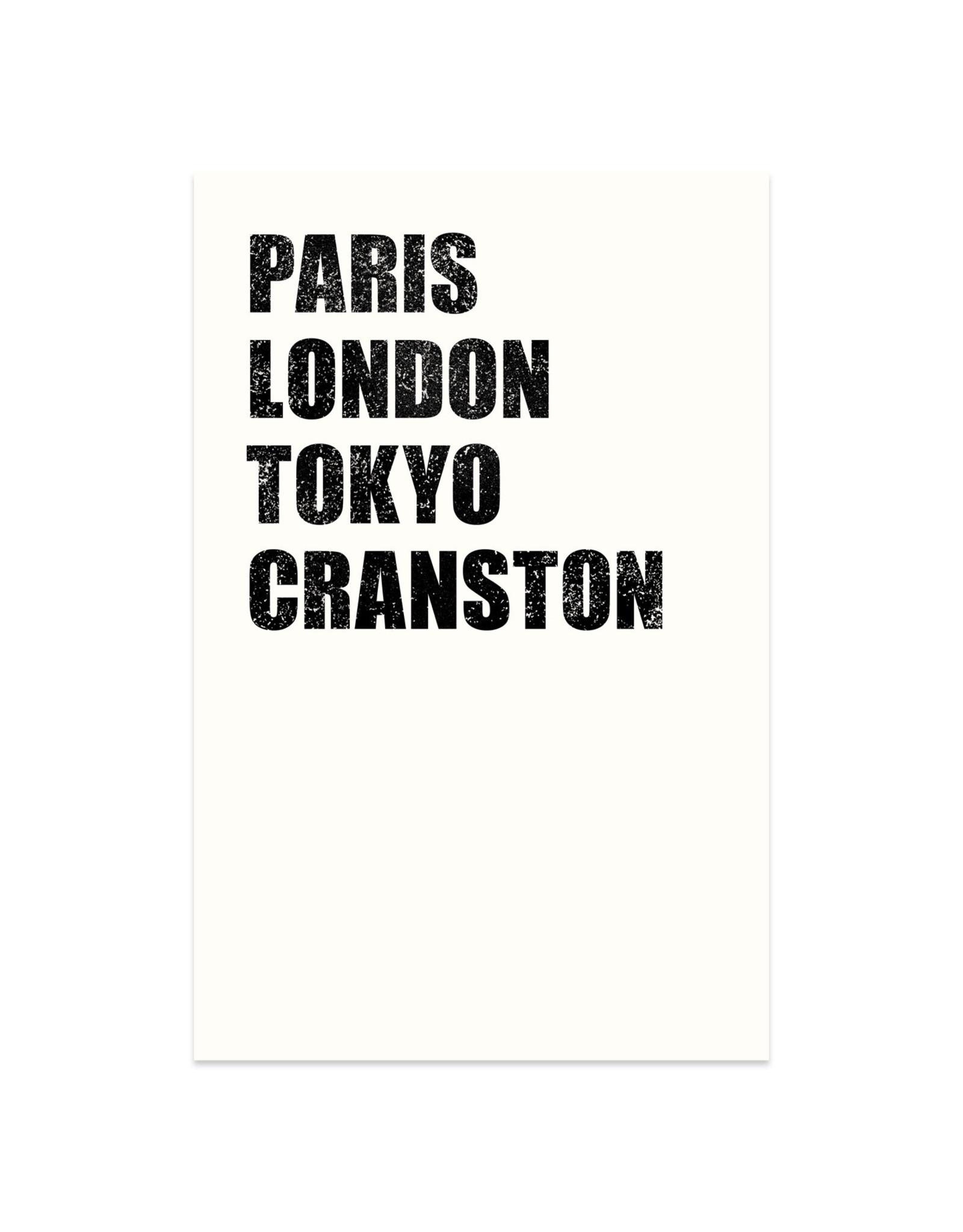 Paris London Tokyo Cranston Print
