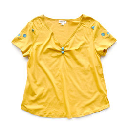Yellow Cat Sleeve Top