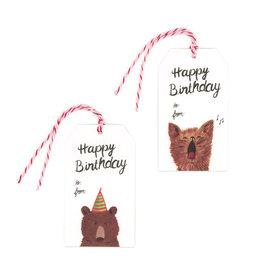 Gift Tag Set : Happy Birthday Fox & Bear