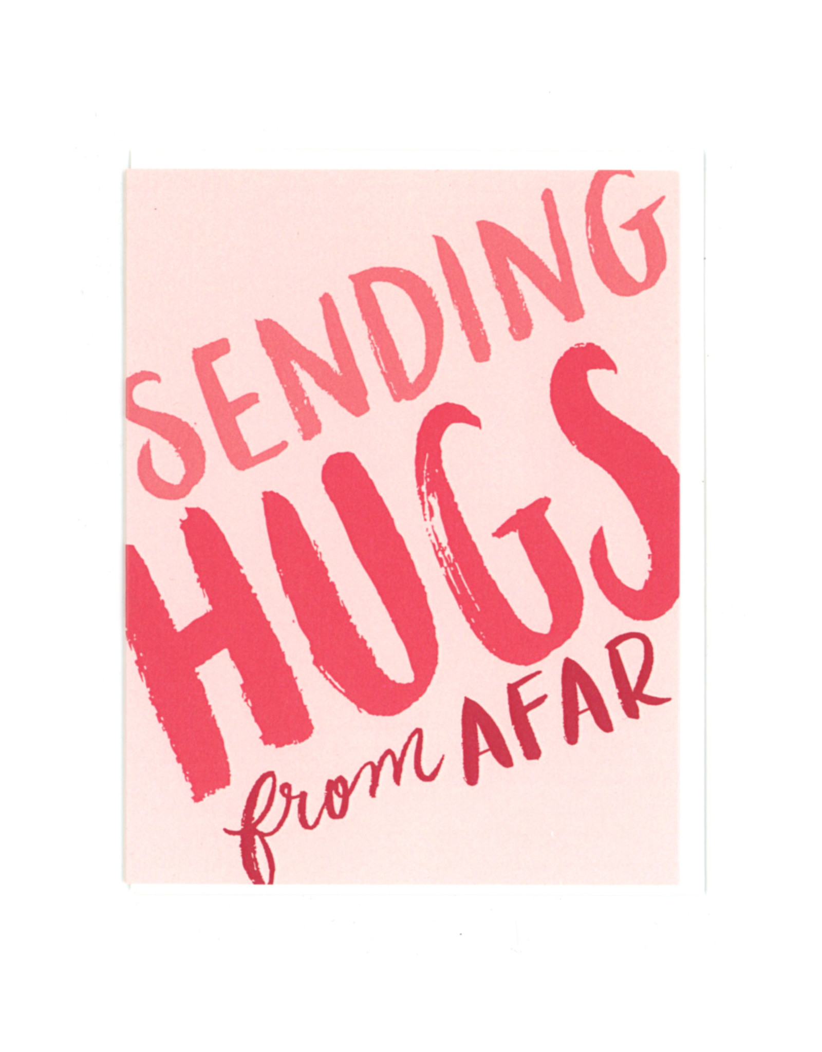 Sending Hugs From Afar Greeting Card