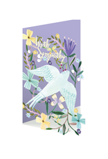 Roger La Borde With Sympathy Dove Lasercut Greeting Card
