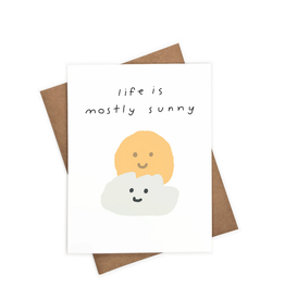 Iejvxr Life is Mostly Sunny Greeting Card