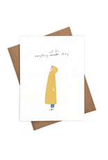 Iejvxr Everything Will Be Okay Standing in Rain Greeting Card