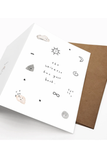 Iejvxr The Universe Has Your Back Greeting Card