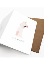 Iejvxr U R Magical Greeting Card