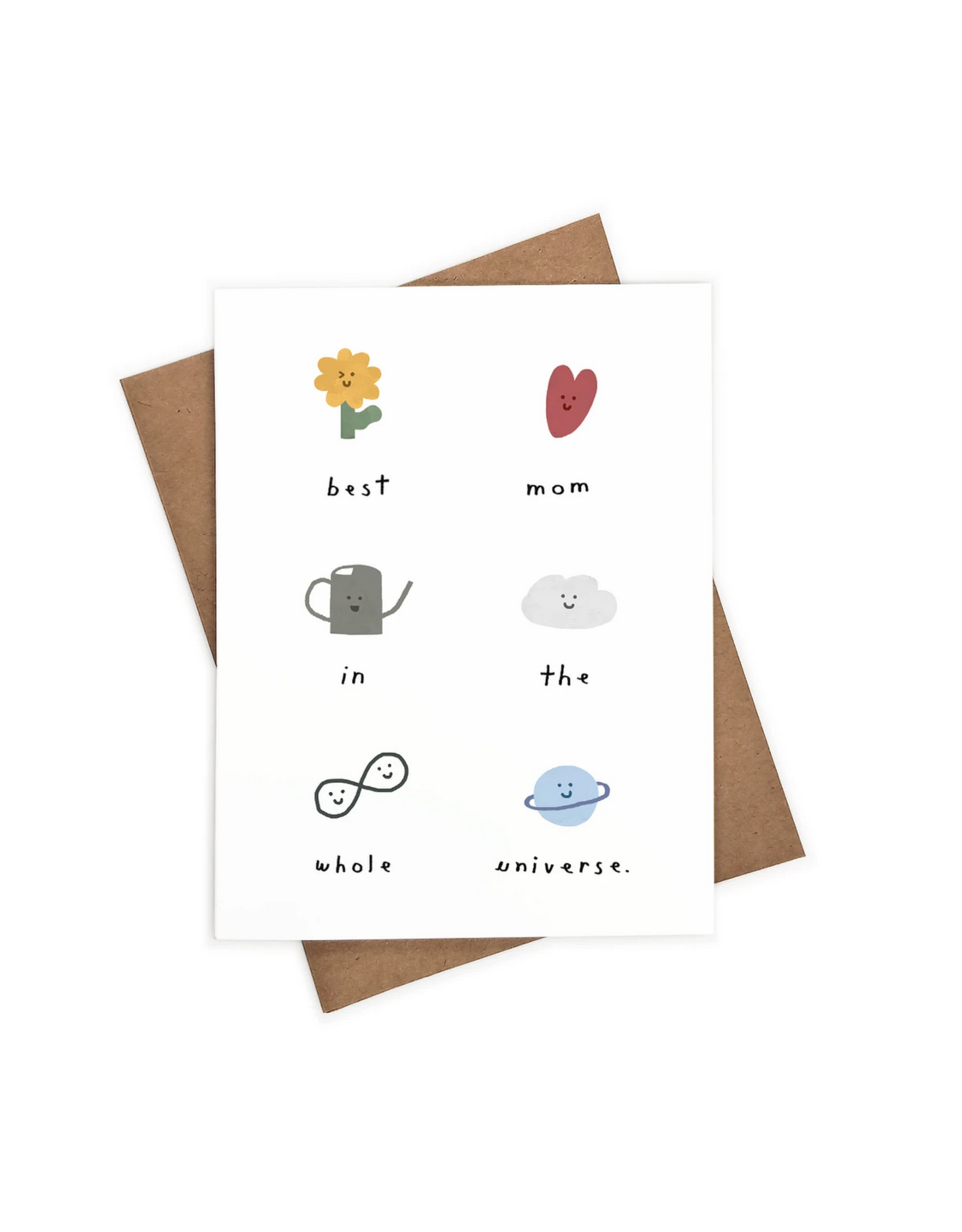 Iejvxr Best Mom in the Universe Greeting Card