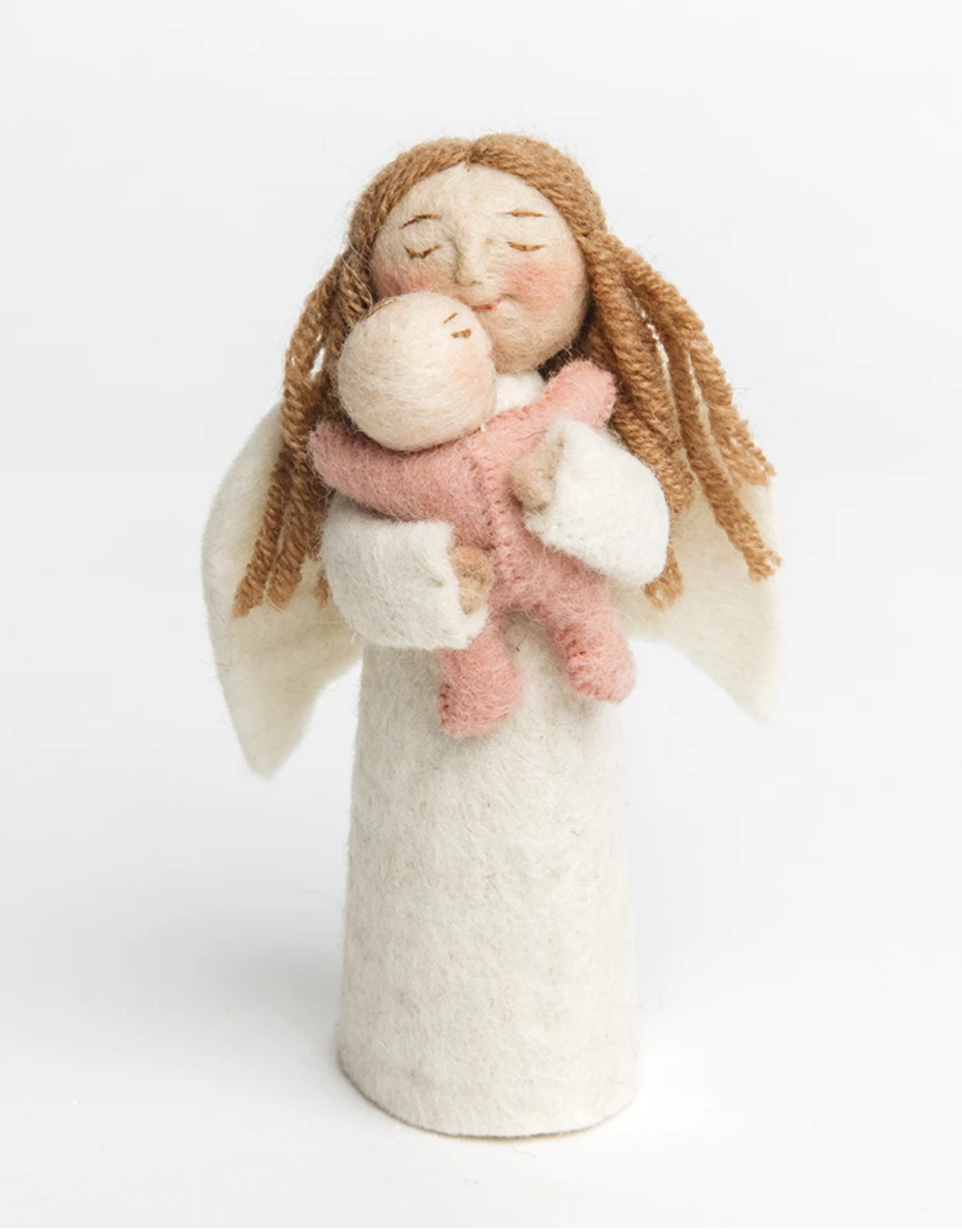 Angel Gift Ornament - Pink Baby