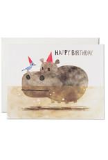 Happy Birthday Bird & Hippo Greeting Card