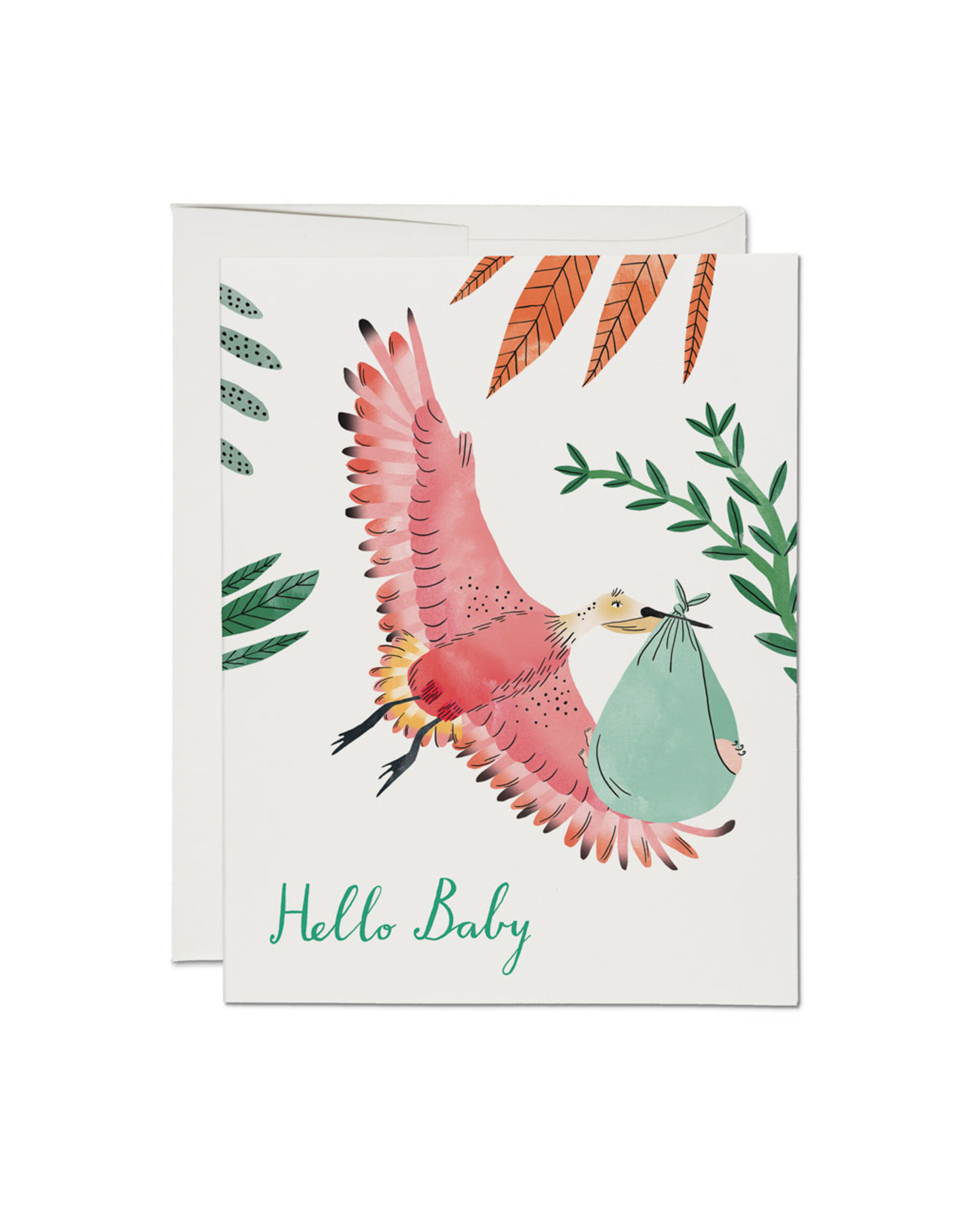 Hello Baby Bird Greeting Card
