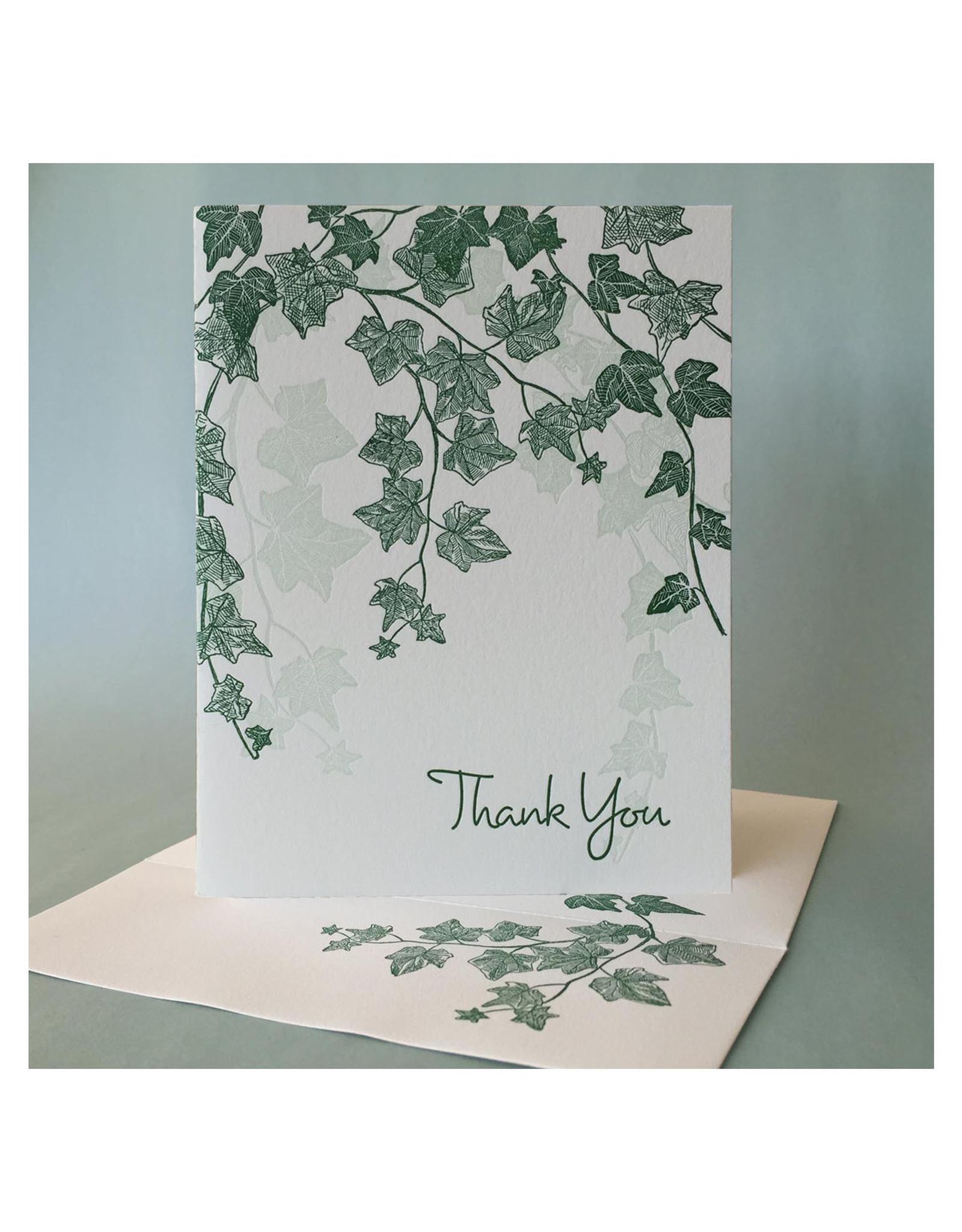 Thank You (English Ivy) Greeting Card