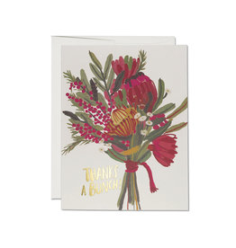 Thanks Queen Protea Bouquet Greeting Card