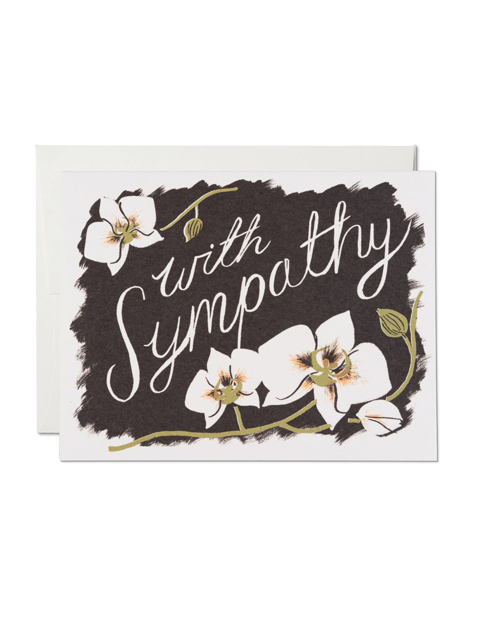 With Sympathy Orchids Greeting Card