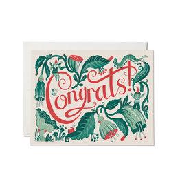 Congrats Garden Friends Greeting Card
