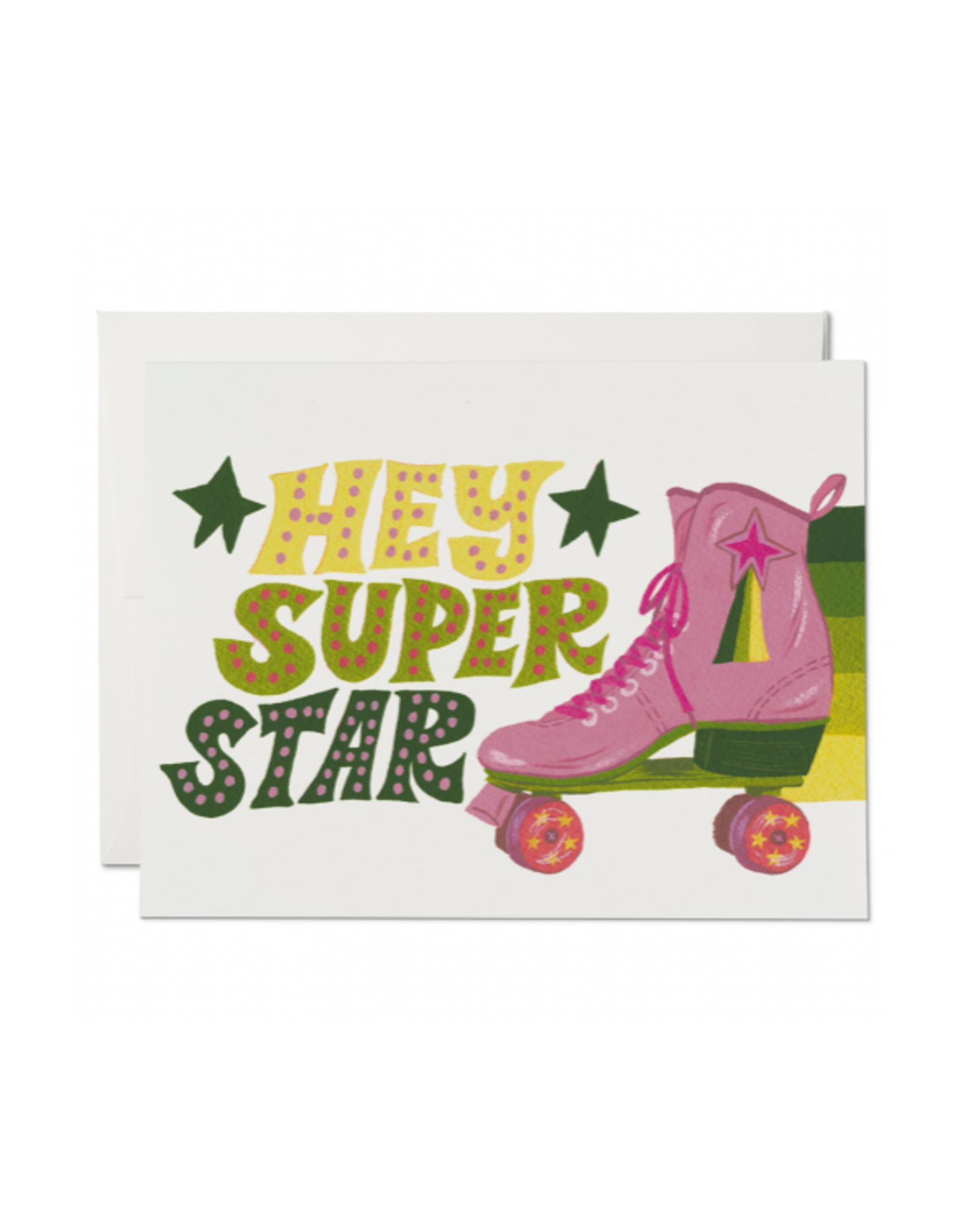 Hey Superstar Roller Skate Greeting Card