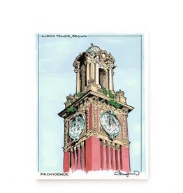 Brown Clock Tower Print