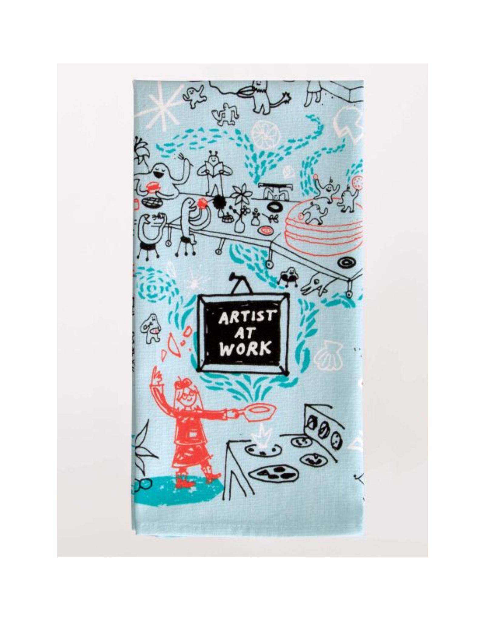 Artist At Work Dish Towel