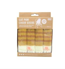 Cat Paw Chair Socks -Tabby Brown