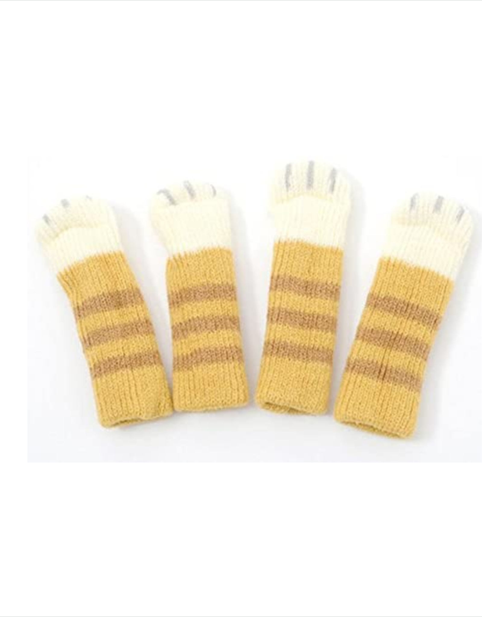Cat Paw Chair Socks - Tabby Brown