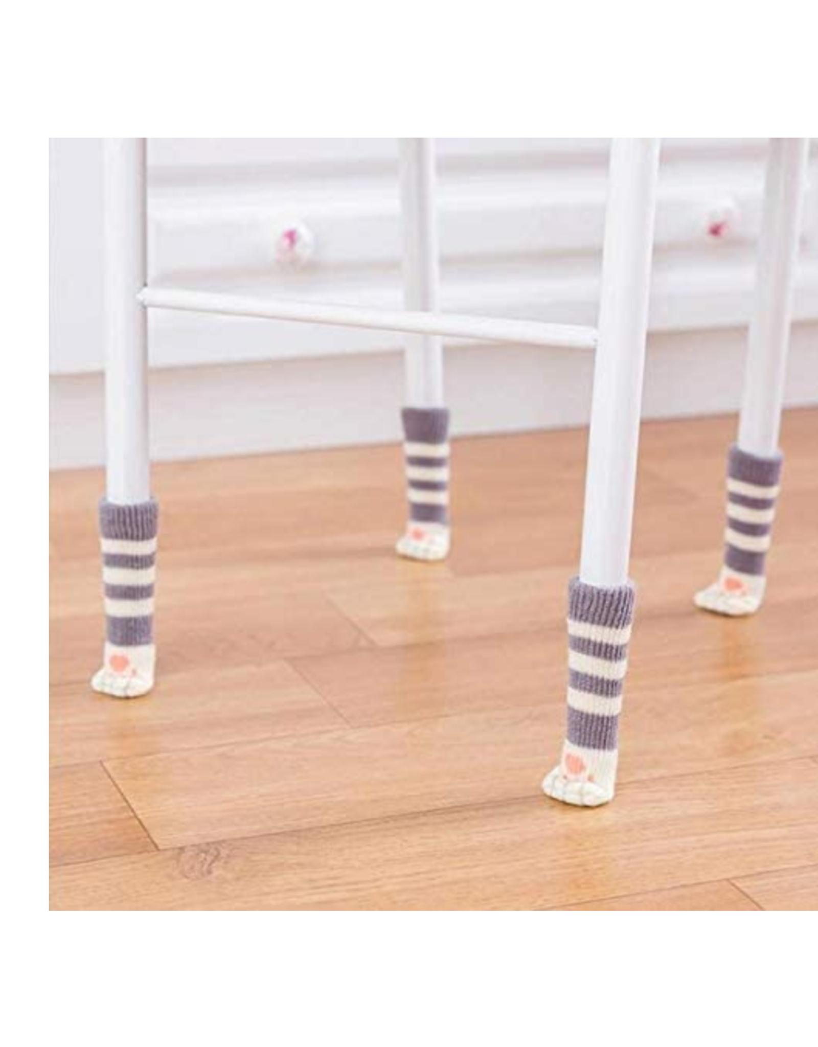 Cat Paw Chair Socks - Tabby Grey