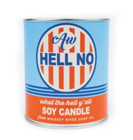 Aw Hell No Paint Can Candle