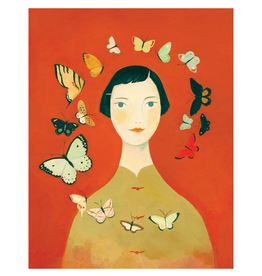 Butterfly Girl Print