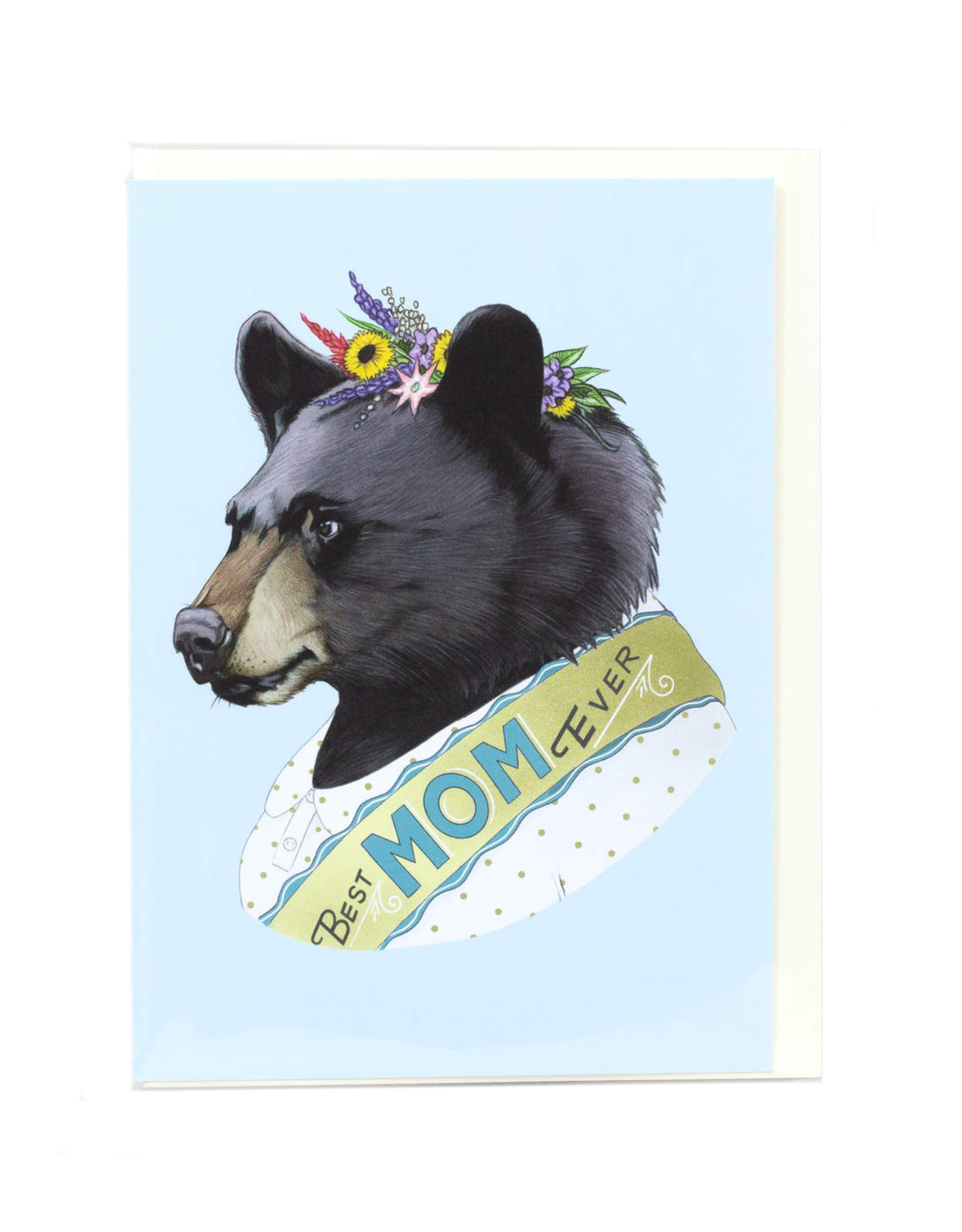 Best Mom Ever Bear Greeting Card