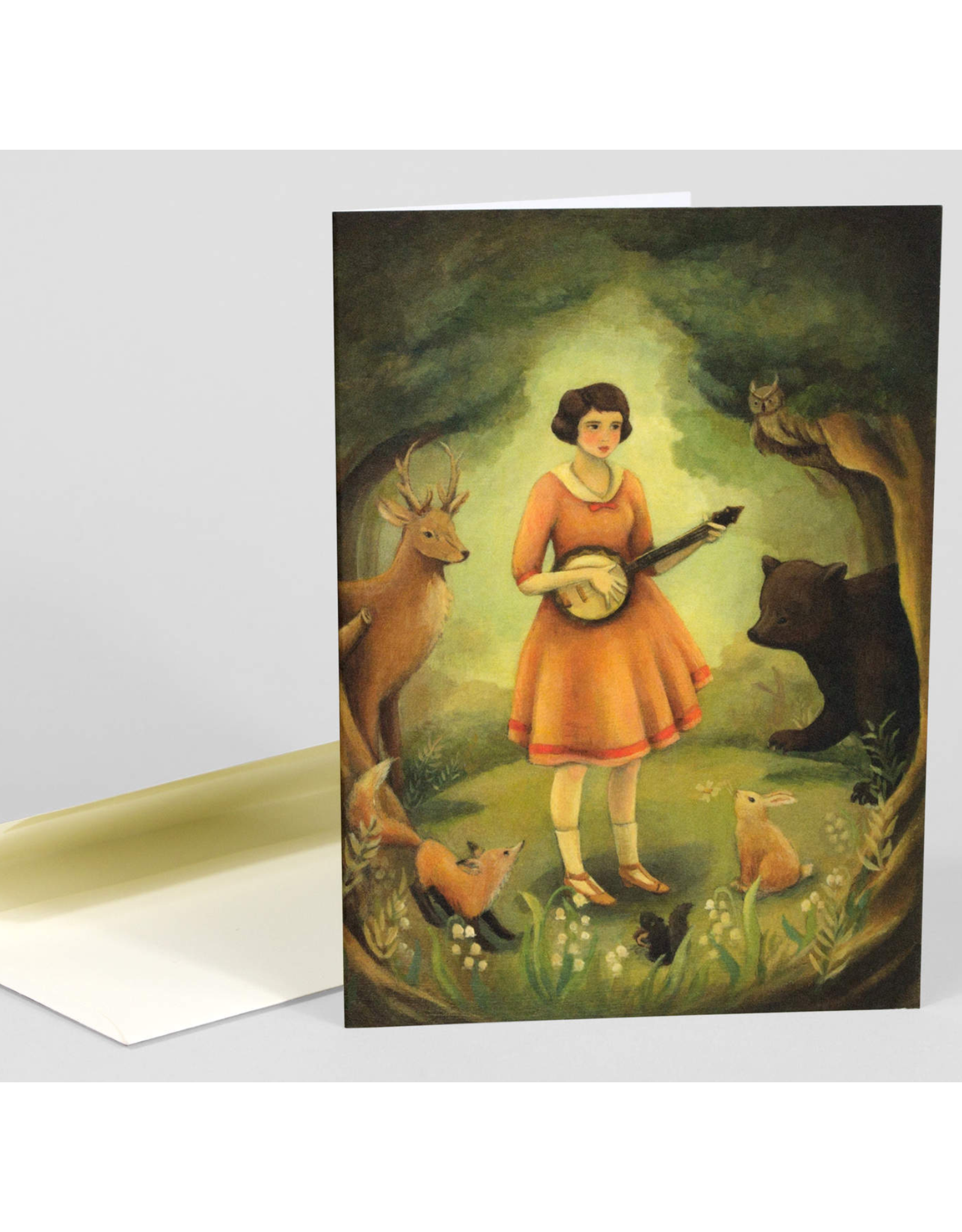 Woodland Banjo Recital Greeting Card