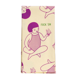 Fuck 'Em Girl & Butterfly Dish Towel