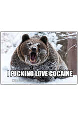 I Fucking Love Cocaine Bear Magnet