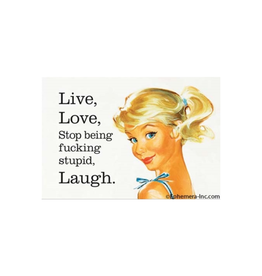 Live, Love, Stop Being Stupid Magnet