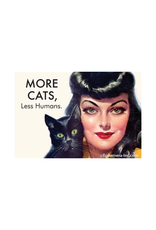 More Cats, Less Humans Magnet