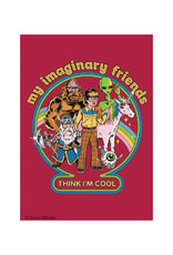 My Imaginary Friends Think I'm Cool Magnet