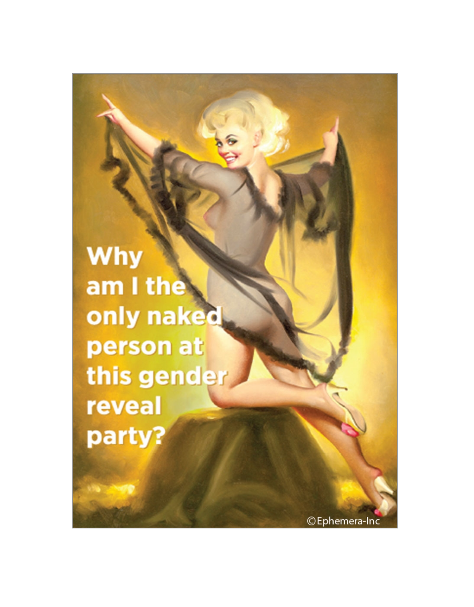 Naked At The Gender Reveal Party Magnet